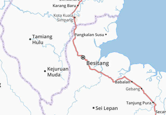 Besitang Map