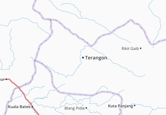 Mapa Plano Terangon