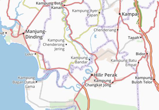 Kaart Plattegrond Kampung Bandar