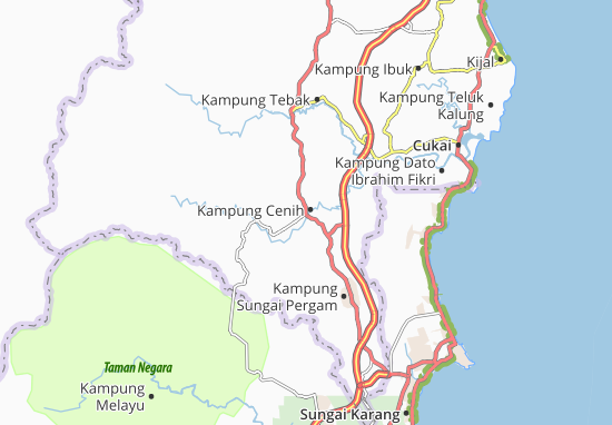 Kaart Plattegrond Kampung Cenih