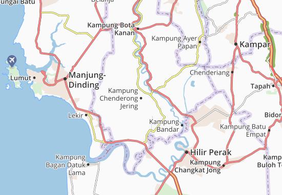 Kaart Plattegrond Kampung Chenderong Jering