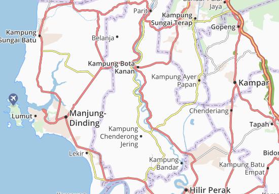Kaart Plattegrond Kampung Lambor Kiri