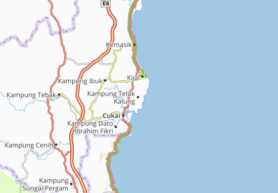 Kampung Teluk Kalung Map