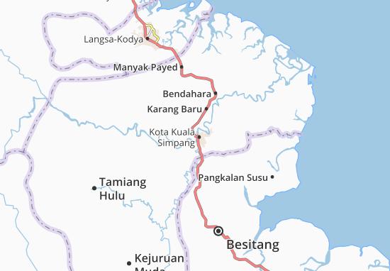 Carte-Plan Aceh Tamiang