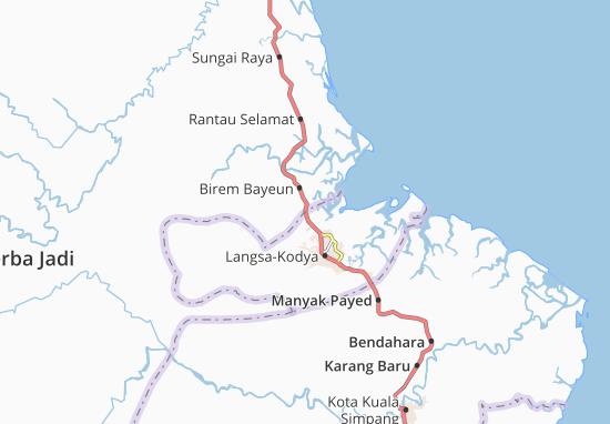 Map Of Langsa Kota Michelin Langsa Kota Map Viamichelin
