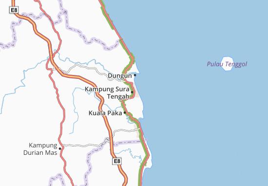 Kampung Sura Tengah Map