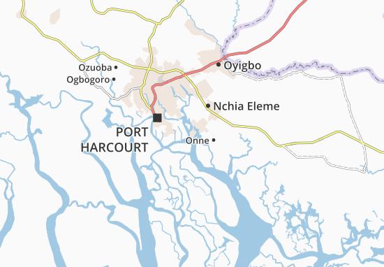 Mapa Plano Okrika