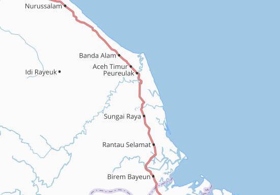 Carte-Plan Peureulak Timur