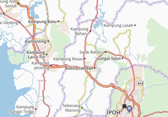 Kaart Plattegrond Kampung Rasau