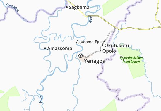 Mapa Plano Yenagoa
