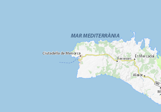Mapa Plano Ciutadella de Menorca