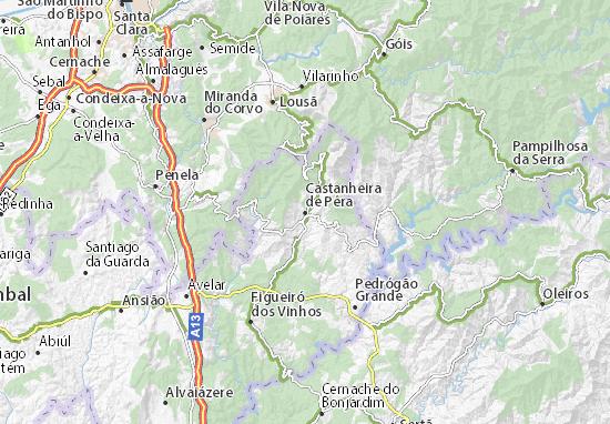 Castanheira de Pêra Map