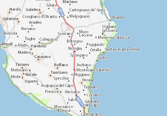 Spongano Map