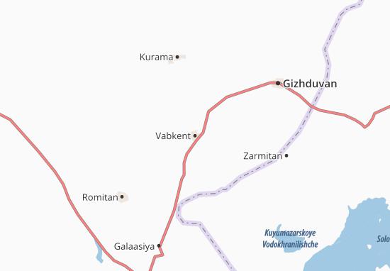 Kaart Plattegrond Vabkent