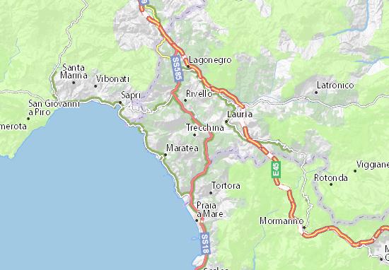 Maratea Sulla Cartina Geografica.Mappa Michelin Trecchina Pinatina Di Trecchina Viamichelin