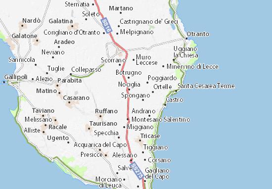 Mappa Puglia Ugento.Mappa Michelin Surano Pinatina Di Surano Viamichelin