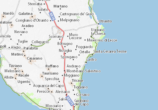 Ortelle Map