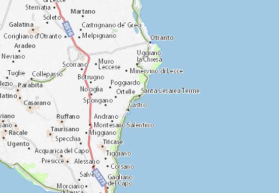Mappe-Piantine Santa Cesarea Terme