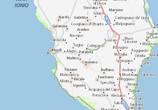 Kaart Plattegrond Parabita