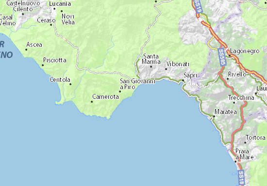 Sapri Cartina Geografica.Mappa Scario Cartina Scario Viamichelin