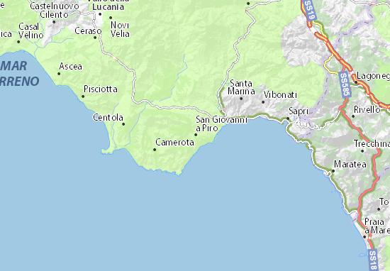 San Giovanni a Piro Map