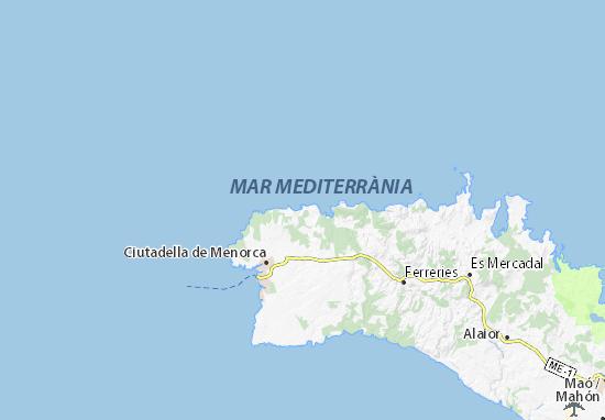 Mapa De Menorca Calas.Mapa Cala Morell Plano Cala Morell Viamichelin