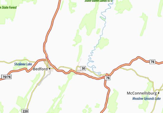 Tatesville Map