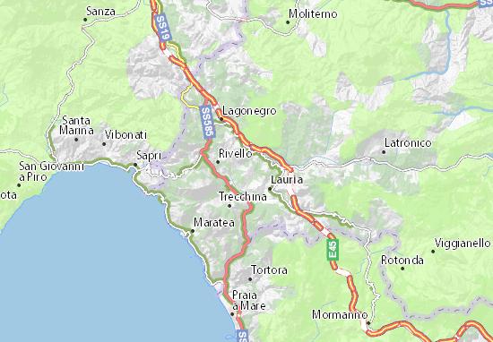 Maratea Sulla Cartina Geografica.Mappa Michelin Nemoli Pinatina Di Nemoli Viamichelin