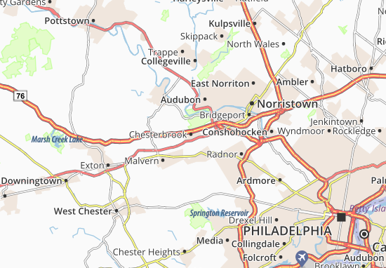 Chesterbrook Map