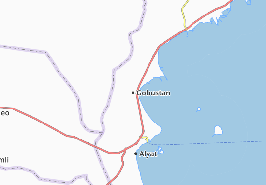 Kaart Plattegrond Gobustan