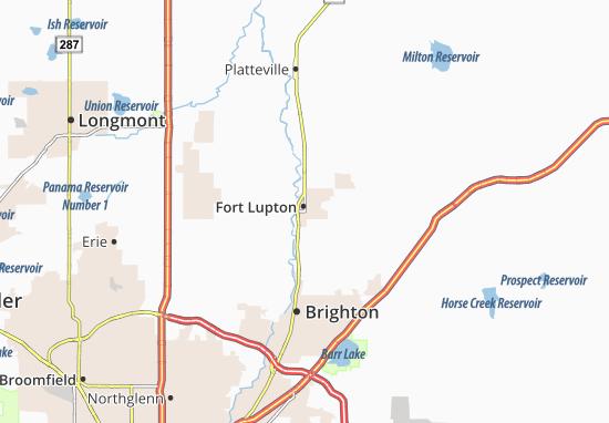 Carte-Plan Fort Lupton