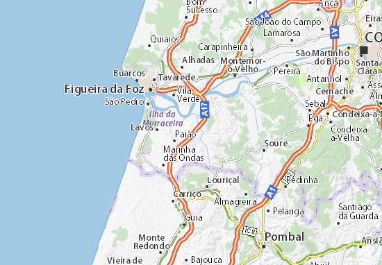 Map 77079.Detailed Map Of Amieira Amieira Map Viamichelin