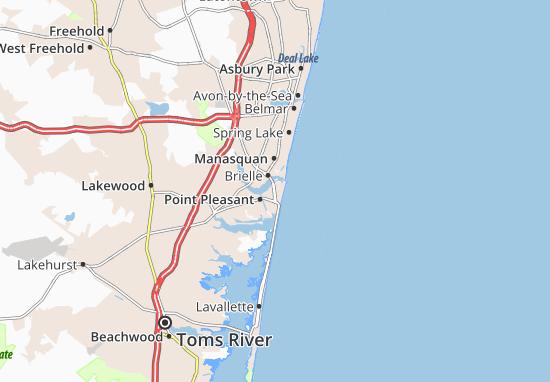 Map of Point Pleasant Beach - Michelin Point Pleasant Beach