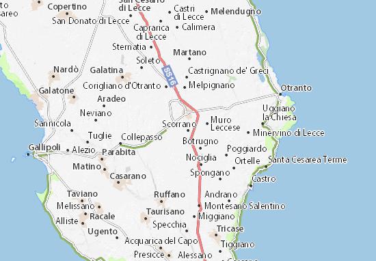 Scorrano Map