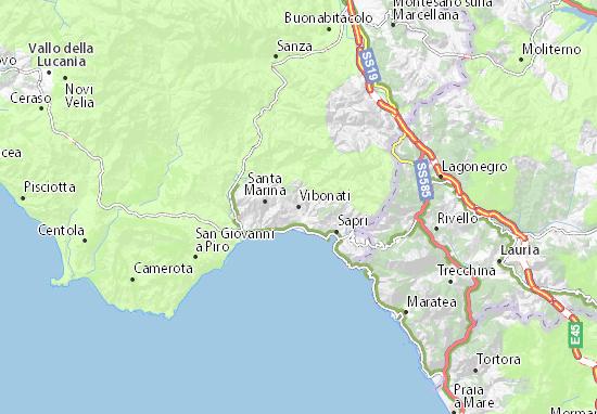 Vibonati Map