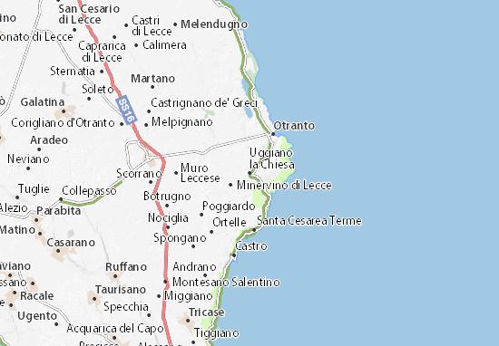 Mapas-Planos Uggiano la Chiesa