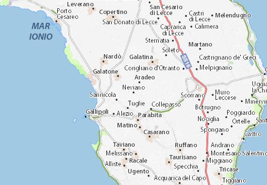 Neviano Map