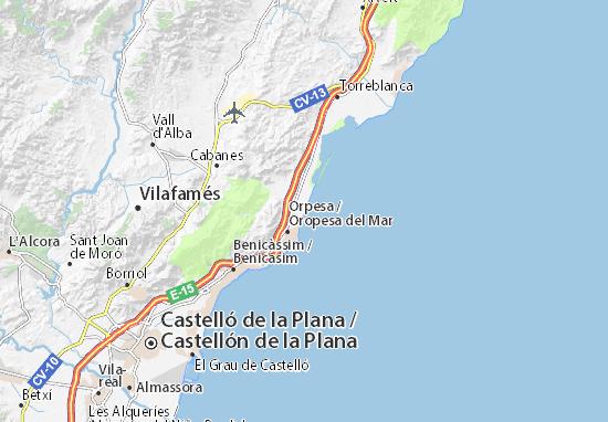 marina d or espanha mapa Mapa Marina d'Or   plano Marina d'Or  ViaMichelin marina d or espanha mapa