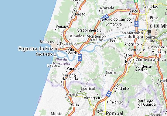 Map Of Abrunheira Michelin Abrunheira Map Viamichelin