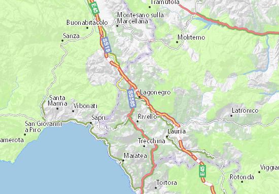 Maratea Sulla Cartina Geografica.Mappa Michelin Lagonegro Pinatina Di Lagonegro Viamichelin