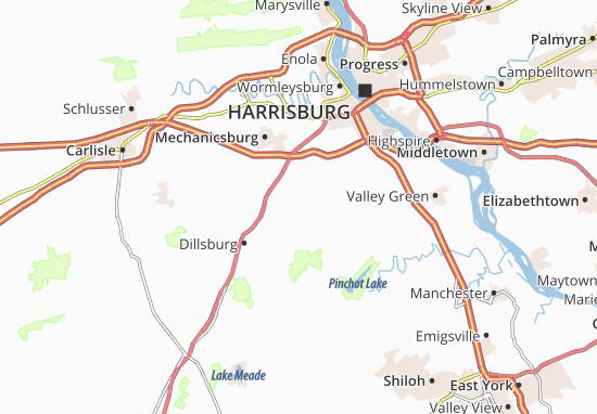 Siddonsburg Map