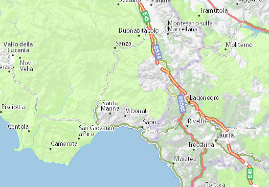 Sapri Cartina Geografica.Mappa Tortorella Cartina Tortorella Viamichelin