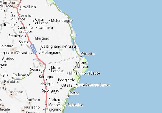 Mappa Otranto - Cartina Otranto ViaMichelin