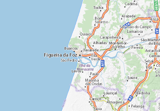 map of figueira da foz michelin figueira da foz map viamichelin. Black Bedroom Furniture Sets. Home Design Ideas