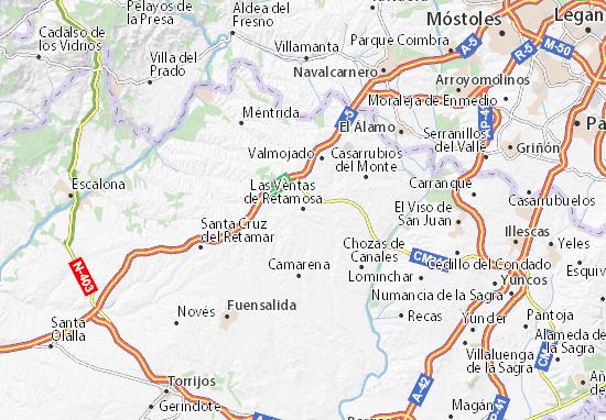 Mappe-Piantine Las Ventas de Retamosa