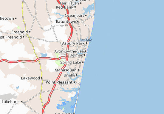West Belmar Map