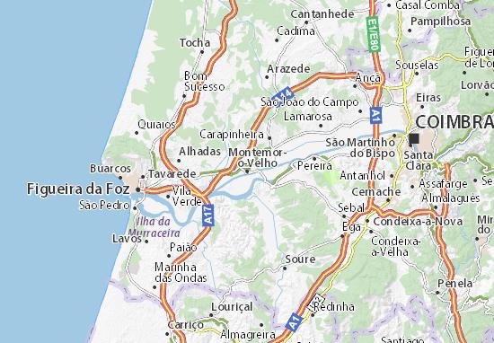 mapa de portugal montemor o velho Mapa Montemor o Velho   plano Montemor o Velho  ViaMichelin mapa de portugal montemor o velho
