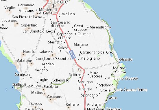 Mapas-Planos Castrignano de' Greci