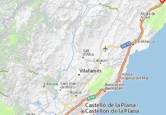 Kaart Plattegrond Vall d'Alba