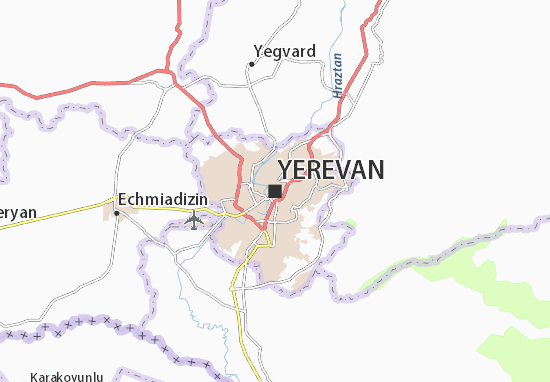 Carte-Plan Yerevan
